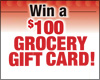 Win a $100 Grocery Gift Card